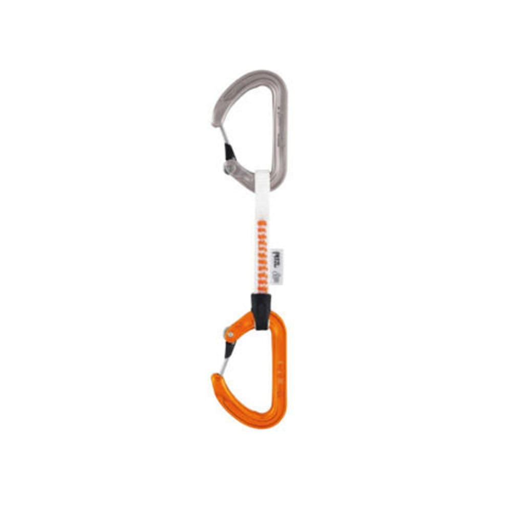 PETZL Ange S Finesse Quickdraw, 10 cm - GREY/ORANGE