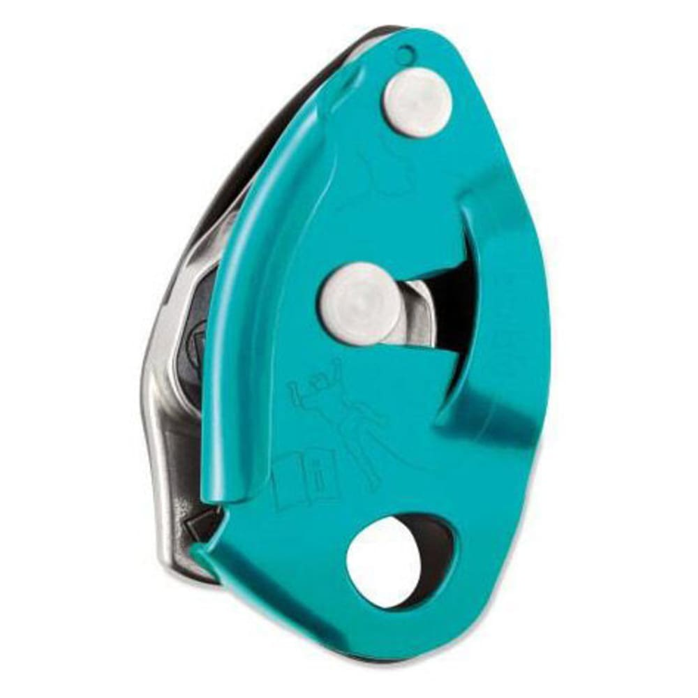PETZL GriGri 2 Belay Device, Turquoise - TURQUOISE
