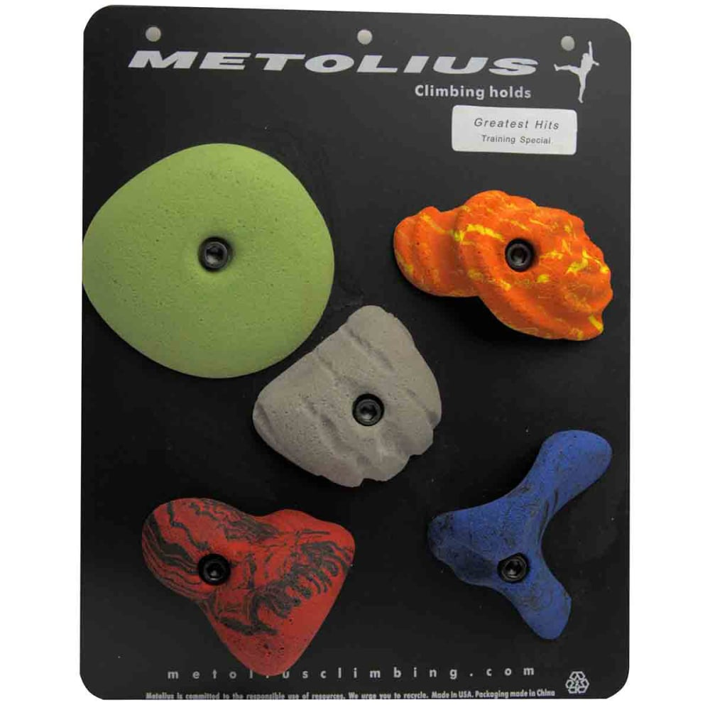 METOLIUS Greatest Hits Modular Climbing Holds 5-Pack - ASSORTED