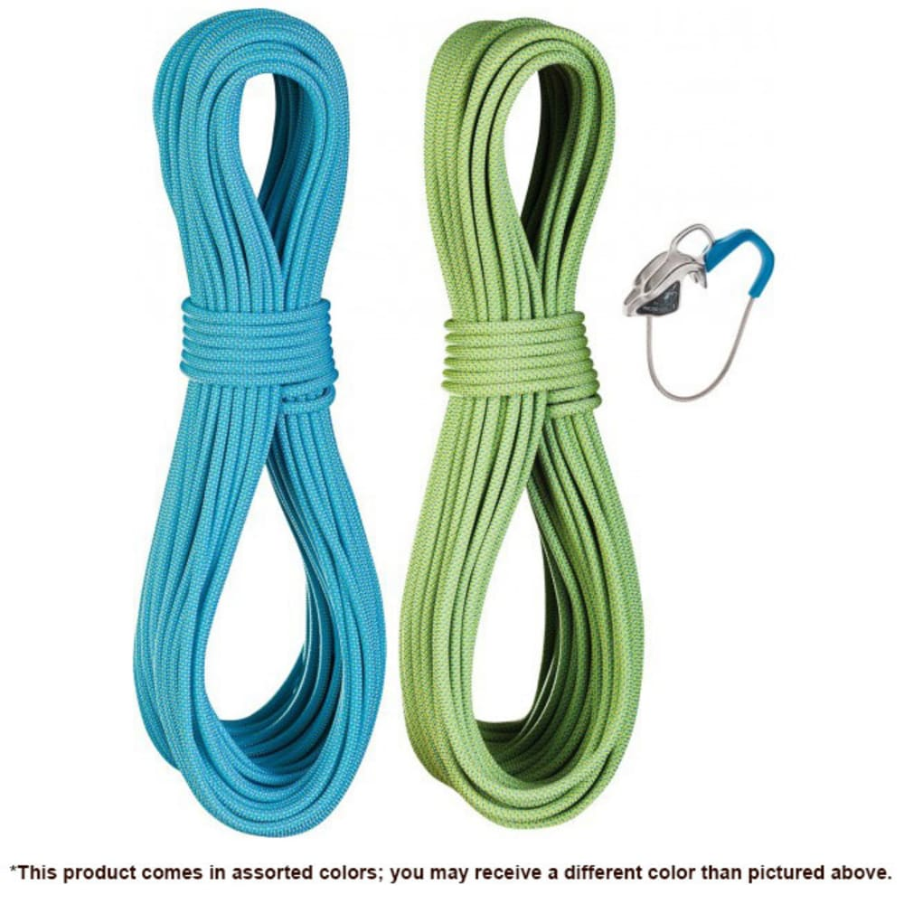 EDELRID Flycatcher 6.9 mm x 60 m Climbing Rope Set with Micro Jul Belay Device - ASSORTED