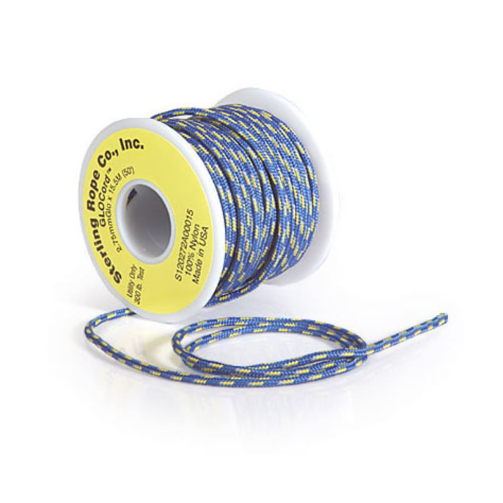 STERLING 2.75 mm Glow Cord, 15.5 Meters - BLUE