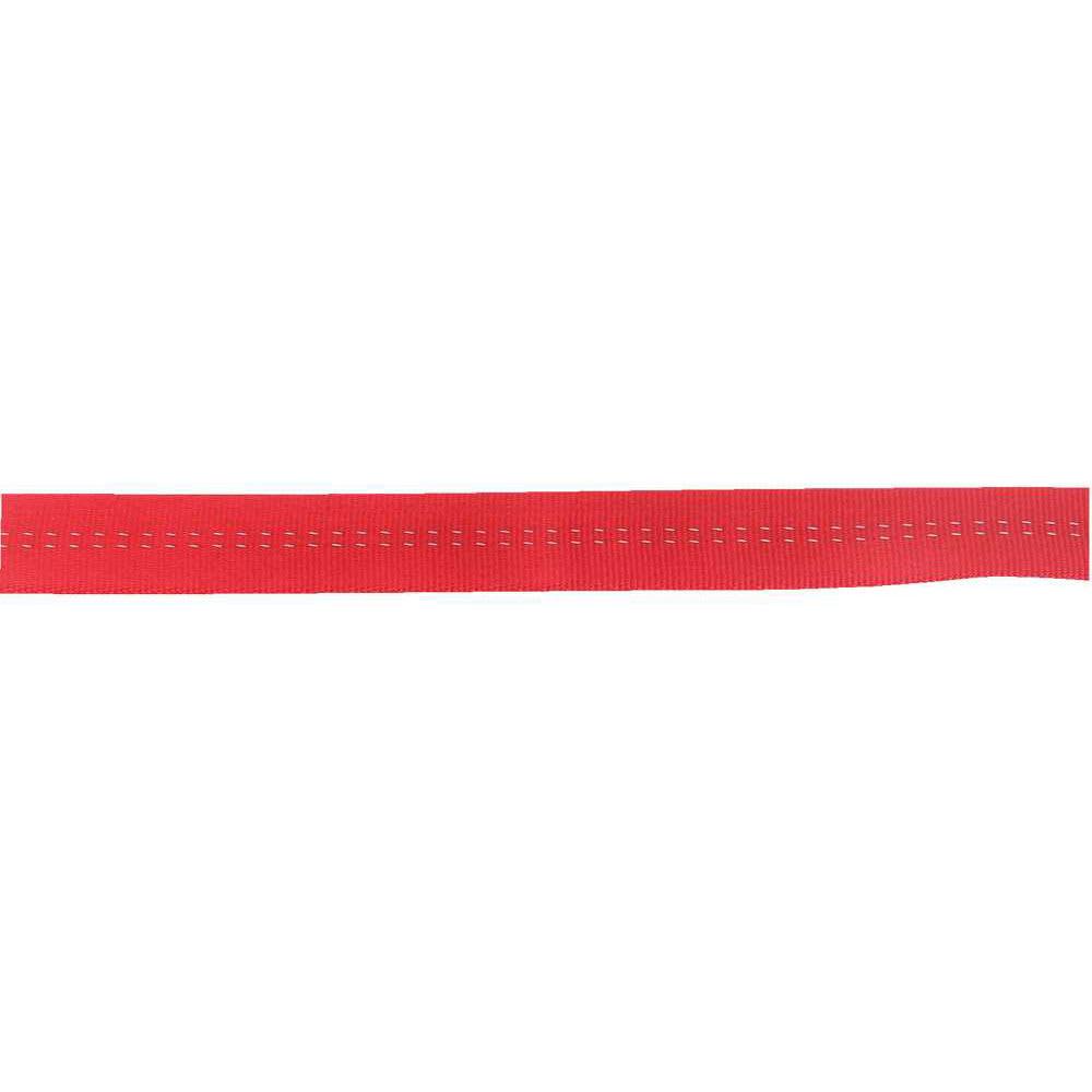 STERLING 1 in. TechTape Tubular Webbing, 1 ft. - RED