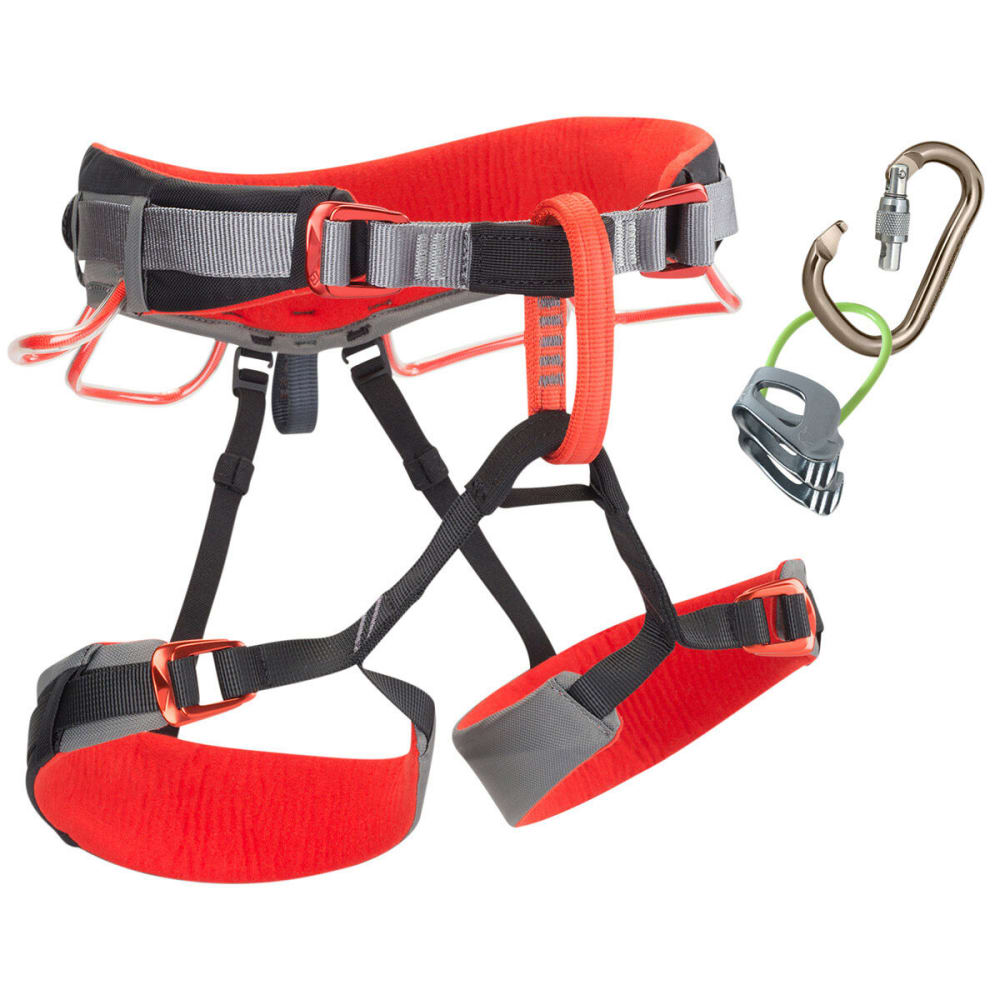 BLACK DIAMOND Momentum DS Climbing Harness Package - STEEL/CINDER