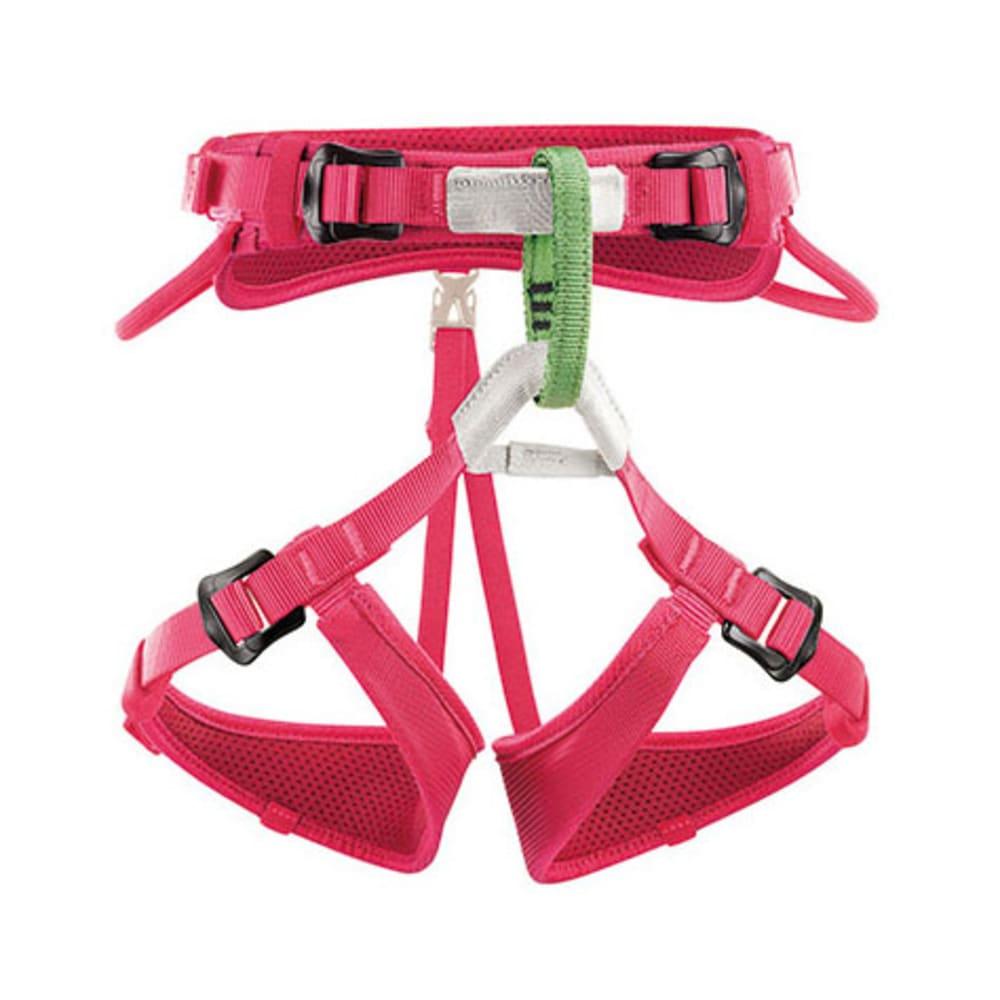 PETZL Macchu Kids' Climbing Harness, Raspberry - RASPBERRY