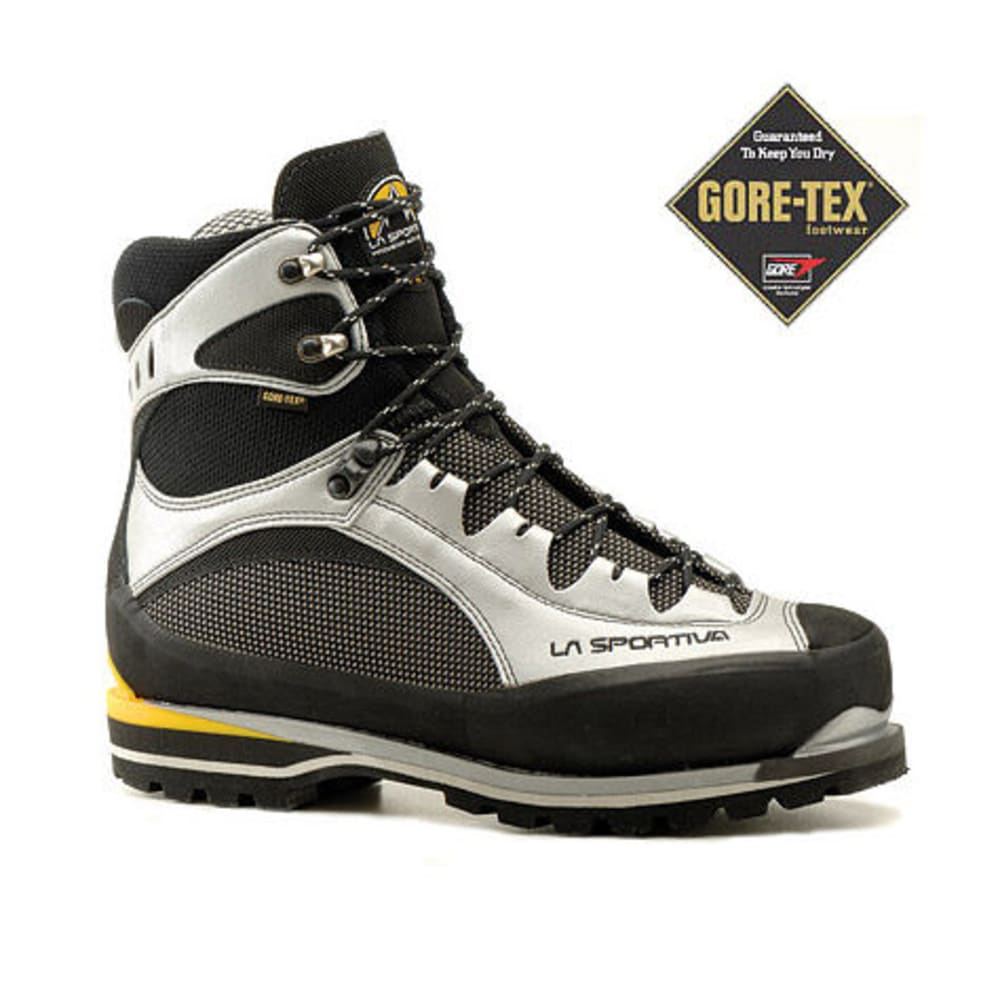 LA SPORTIVA Men's Trango Extreme Evo Light GTX Mountaineering Boots - BLACK/SILVER