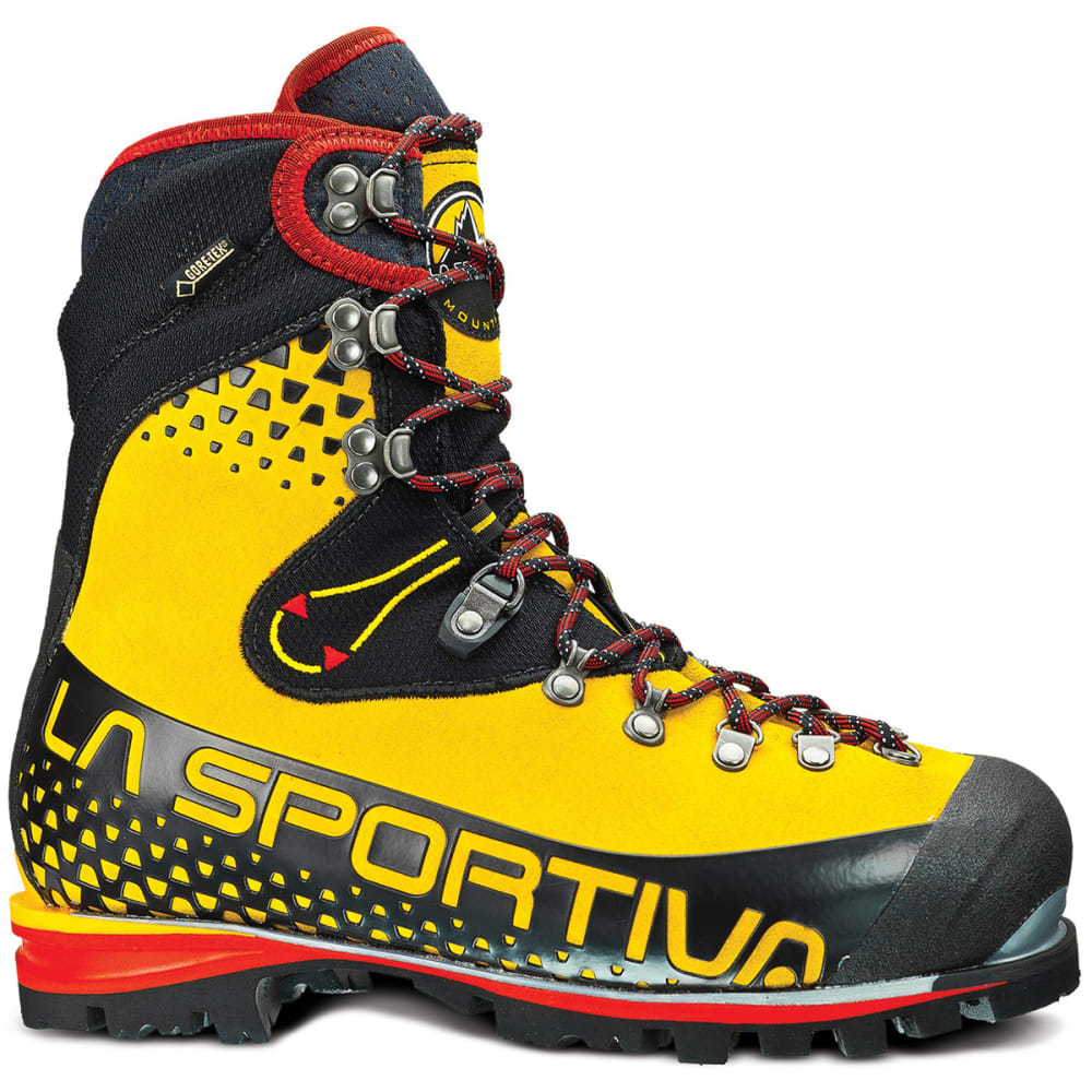 LA SPORTIVA Men's Nepal Cube GTX Mountaineering Boots - YELLOW/BLACK