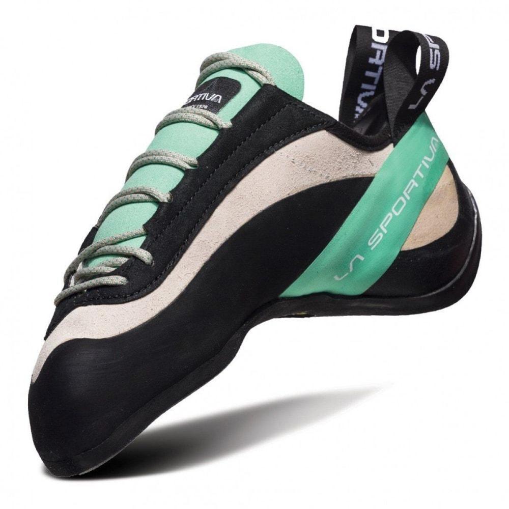 LA SPORTIVA Women's Miura Climbing Shoes - WHITE/JADE GREEN