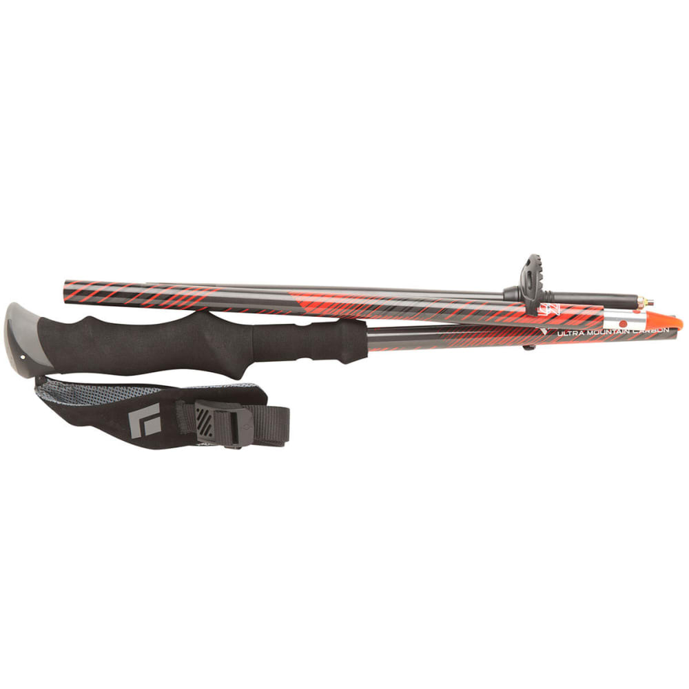 BLACK DIAMOND Ultra Mountain Carbon Trekking Poles - RED/CARBON