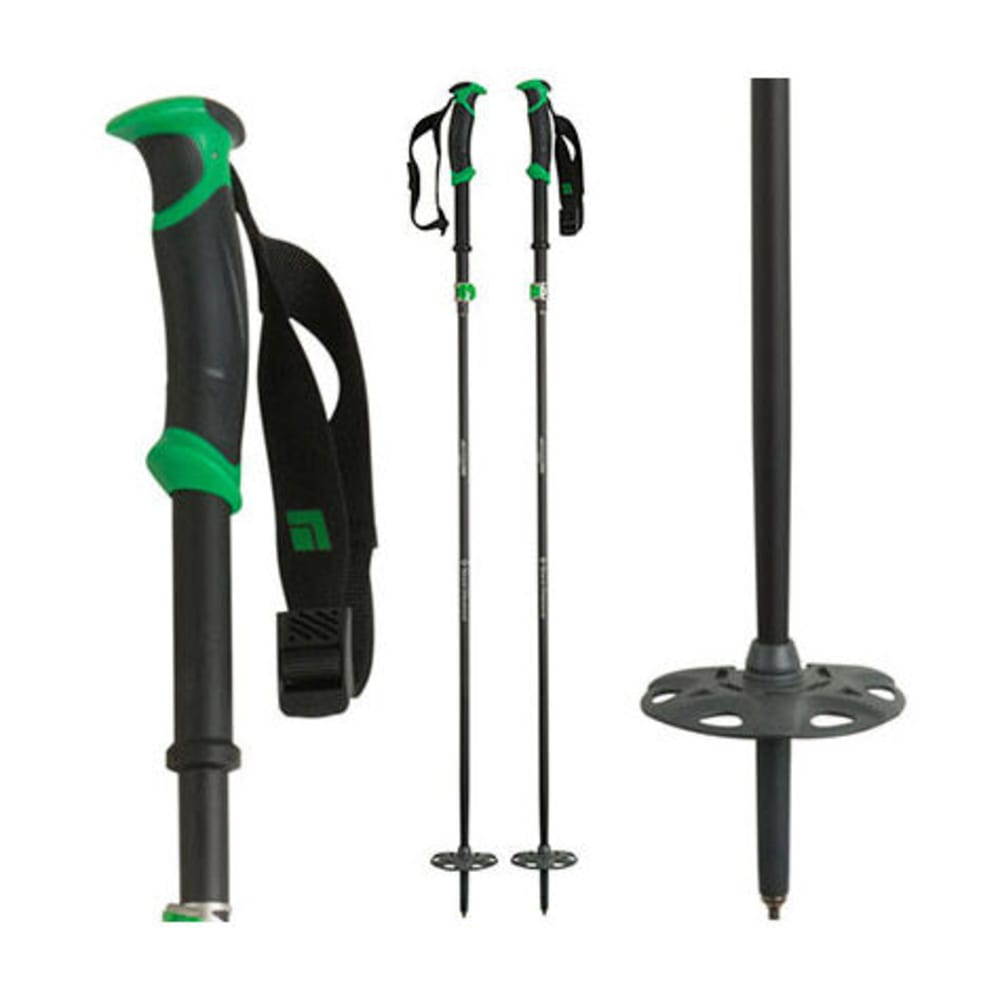 BLACK DIAMOND Compactor Ski Poles - KELLY GREEN