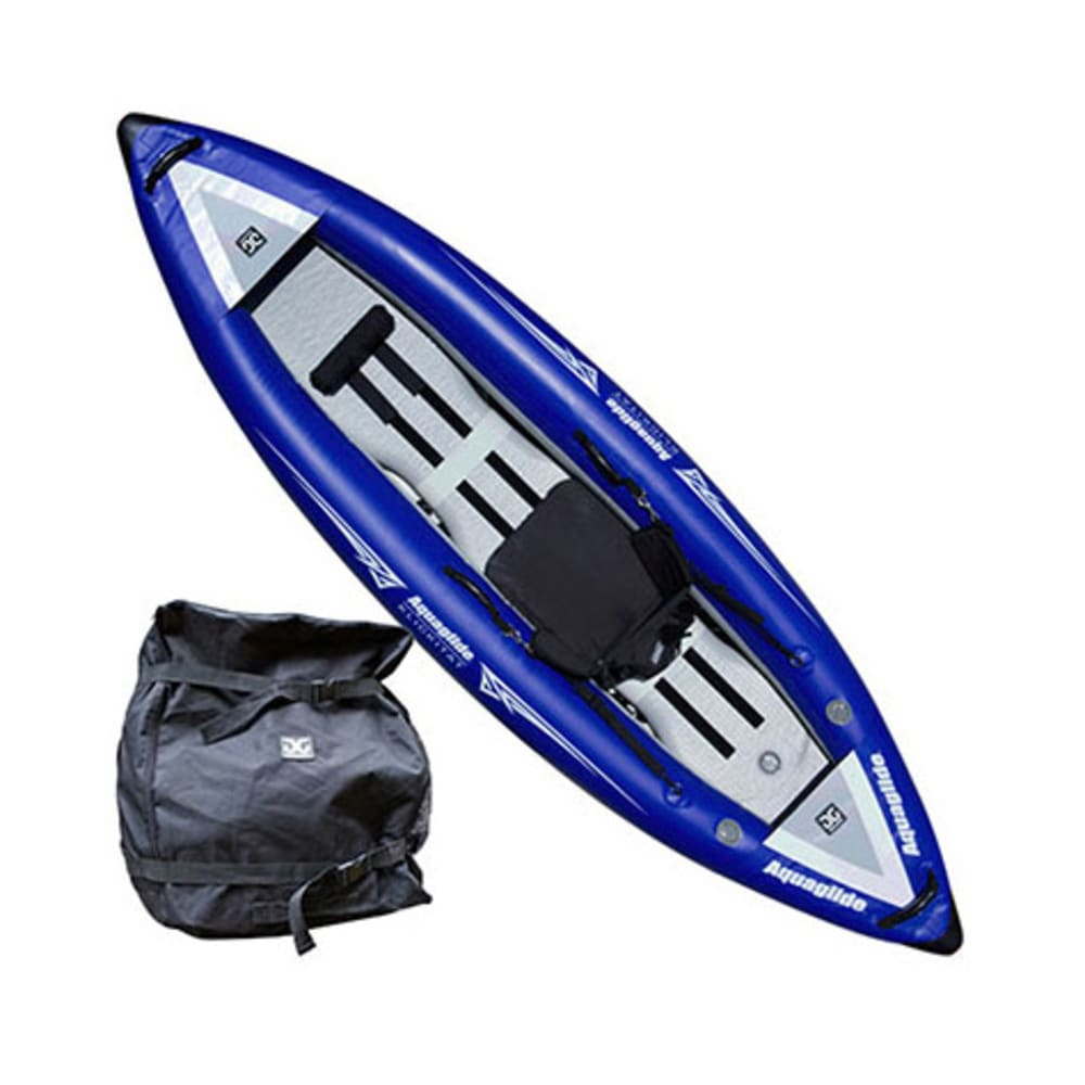 AQUAGLIDE Klickitat One HB Inflatable Kayak - BLUE