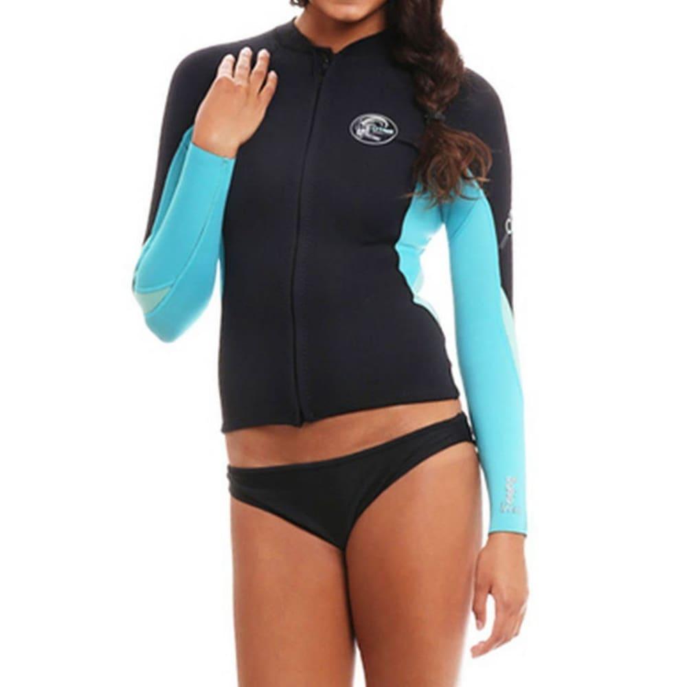 O'NEILL Women's Bahia Full-Zip Wetsuit Jacket - BLACK