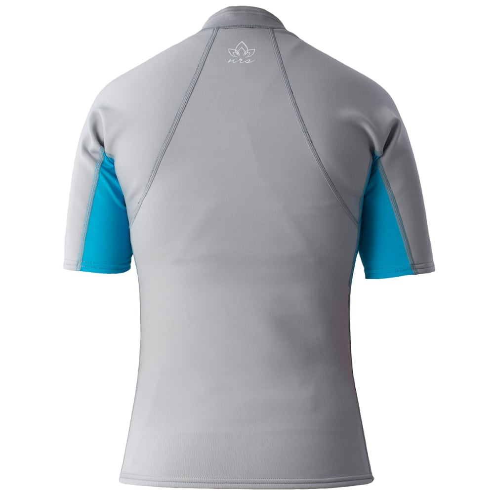 NRS Women's HydroSkin 0.5 Short-Sleeve Shirt - GREY/OCEAN