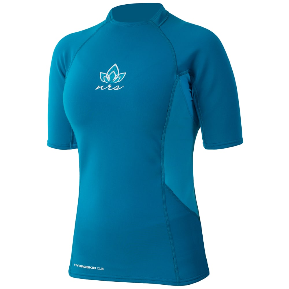 NRS Women's HydroSkin 0.5 Short-Sleeve Shirt - DARK OCEAN