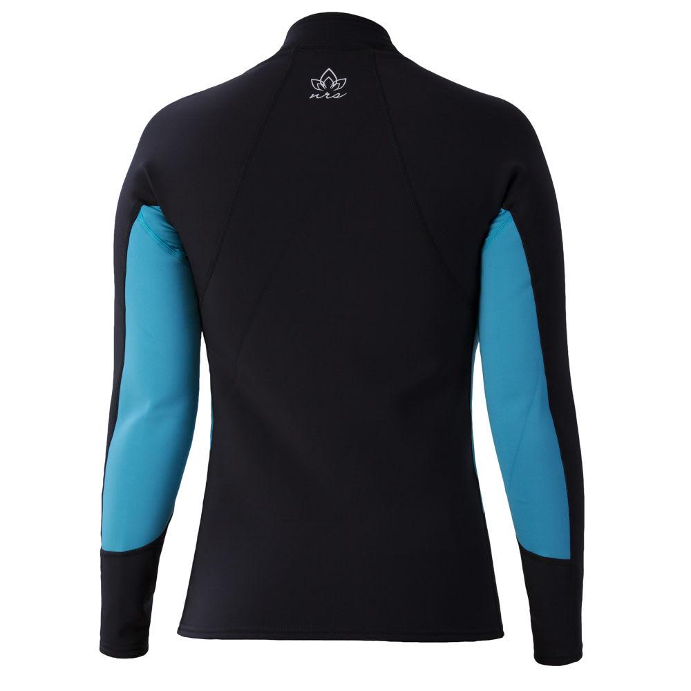 NRS Women's HydroSkin 0.5 Long-Sleeve Shirt - OCEAN/BLACK