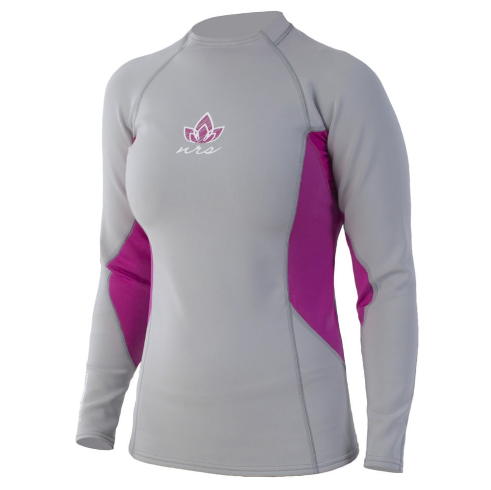 NRS Women's HydroSkin 0.5 Long-Sleeve Shirt - GREY/PURPLE