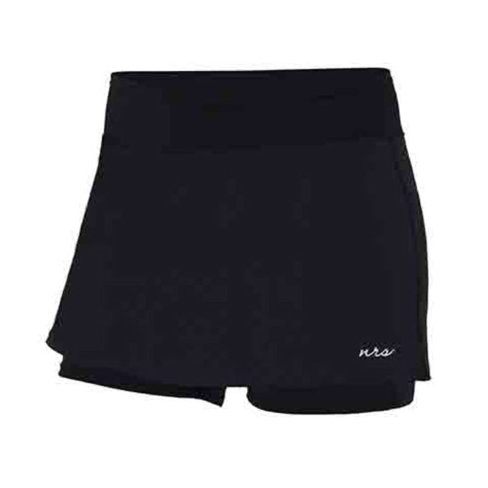 NRS Women's HydroSkin 0.5 Shorts with Skirt - BLACK