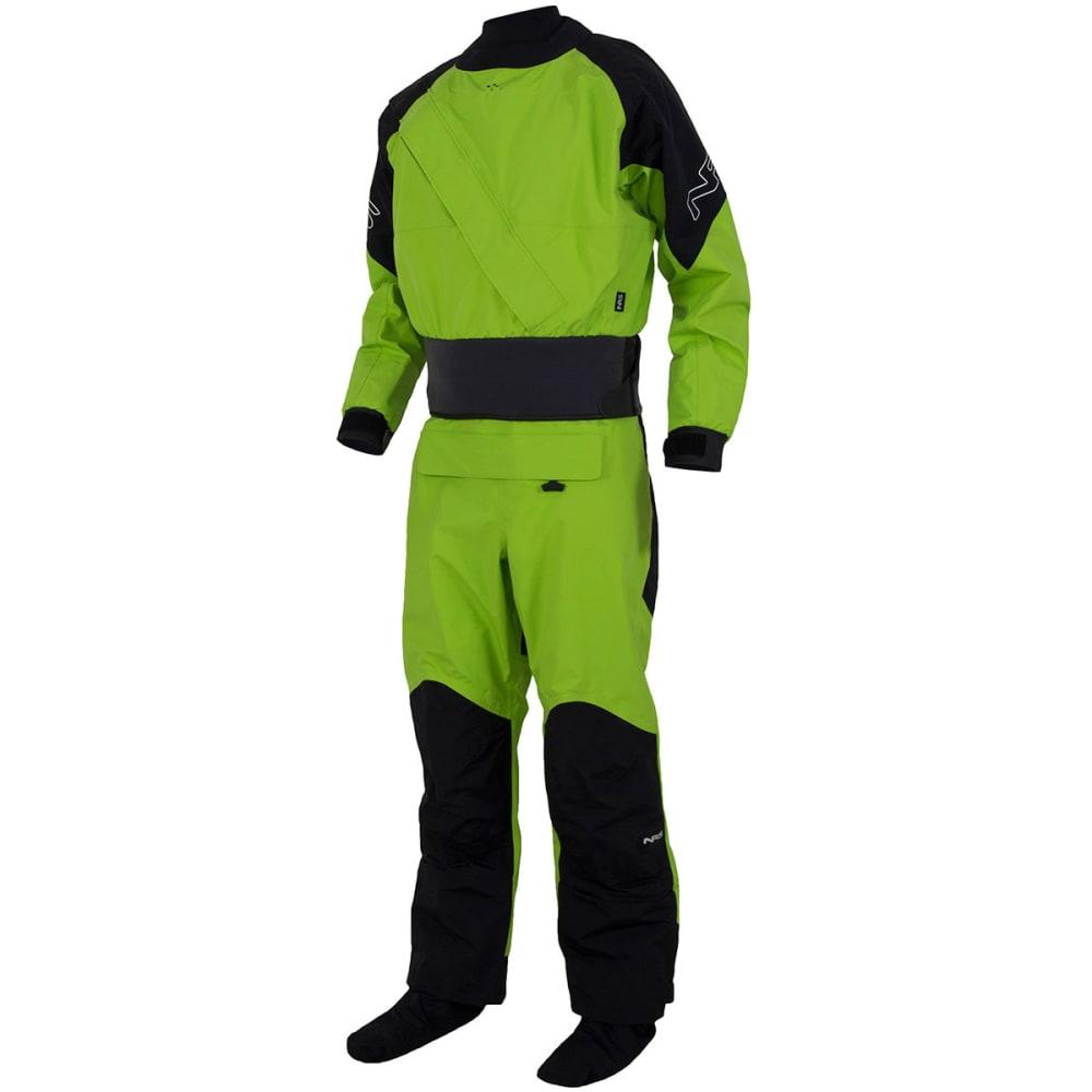 NRS Men's Crux Drysuit - GREEN/BLACK