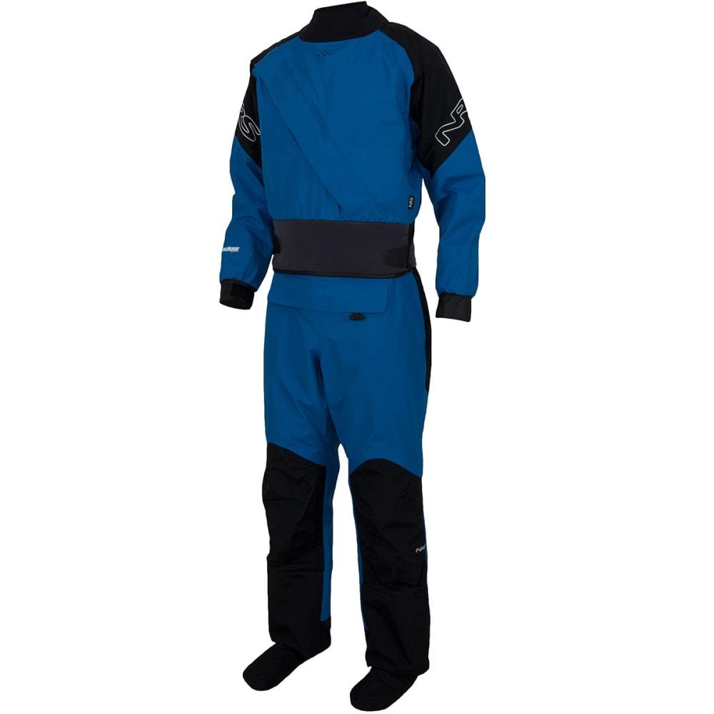 NRS Men's Crux Drysuit - BLUE/BLACK