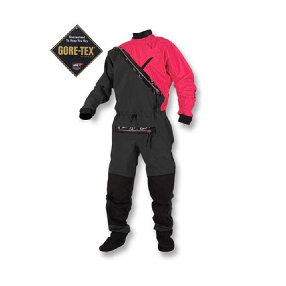 KOKATAT Men's Gore-Tex Front-Entry Drysuit with Relief - RED/BLACK
