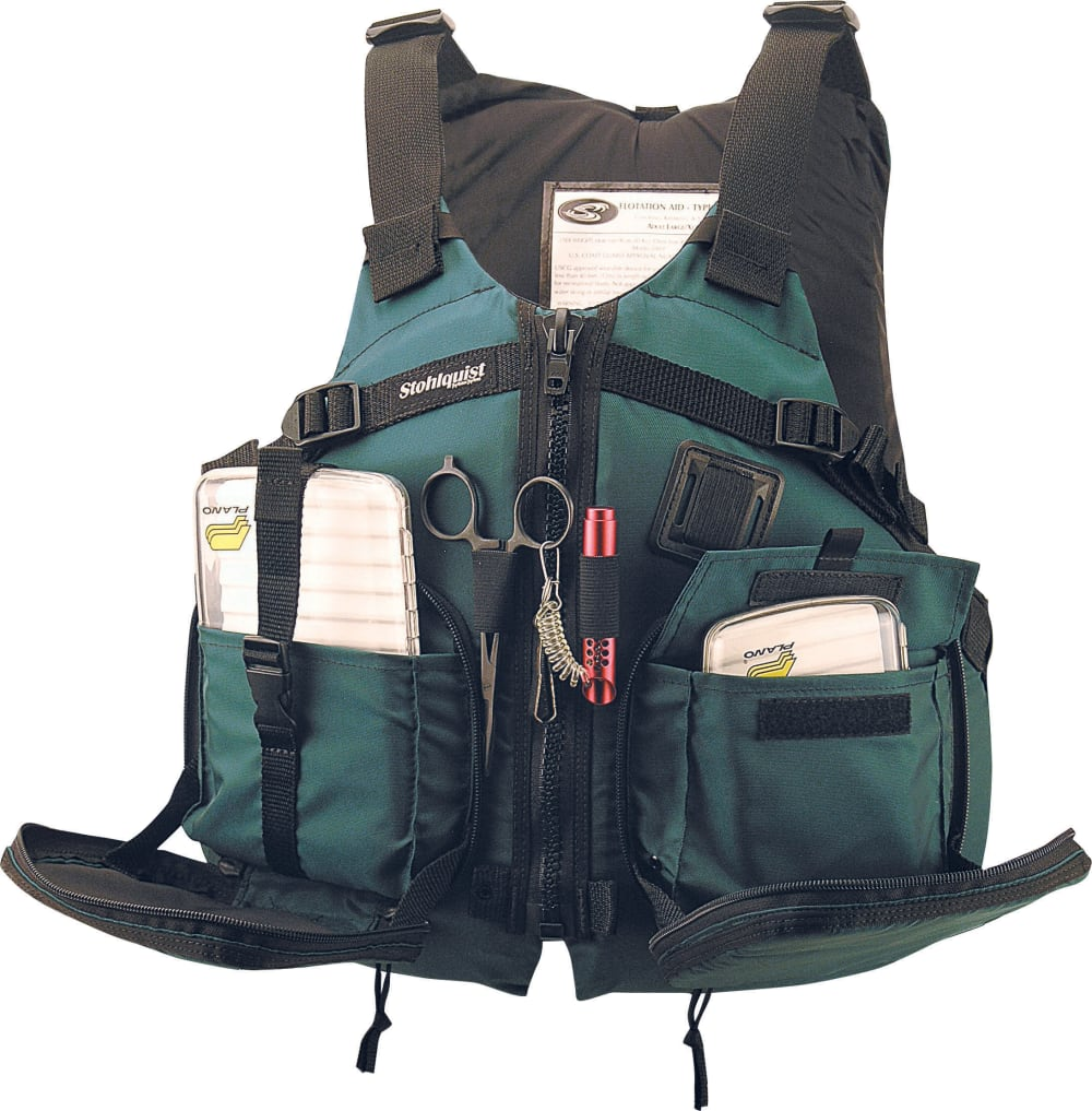 Stohlquist piseas kayak fishing life vest for Kayak fishing vest