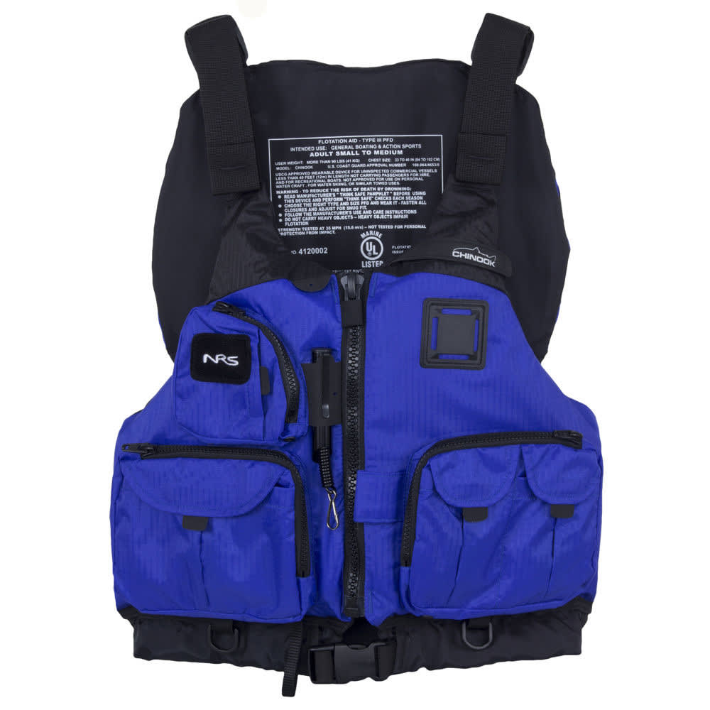 NRS Chinook Mesh Back Fishing PFD - BLUE