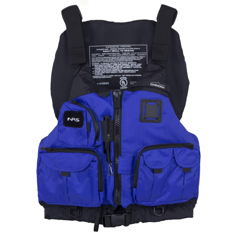 NRS Chinook Mesh Back Fishing PFD - BLUE