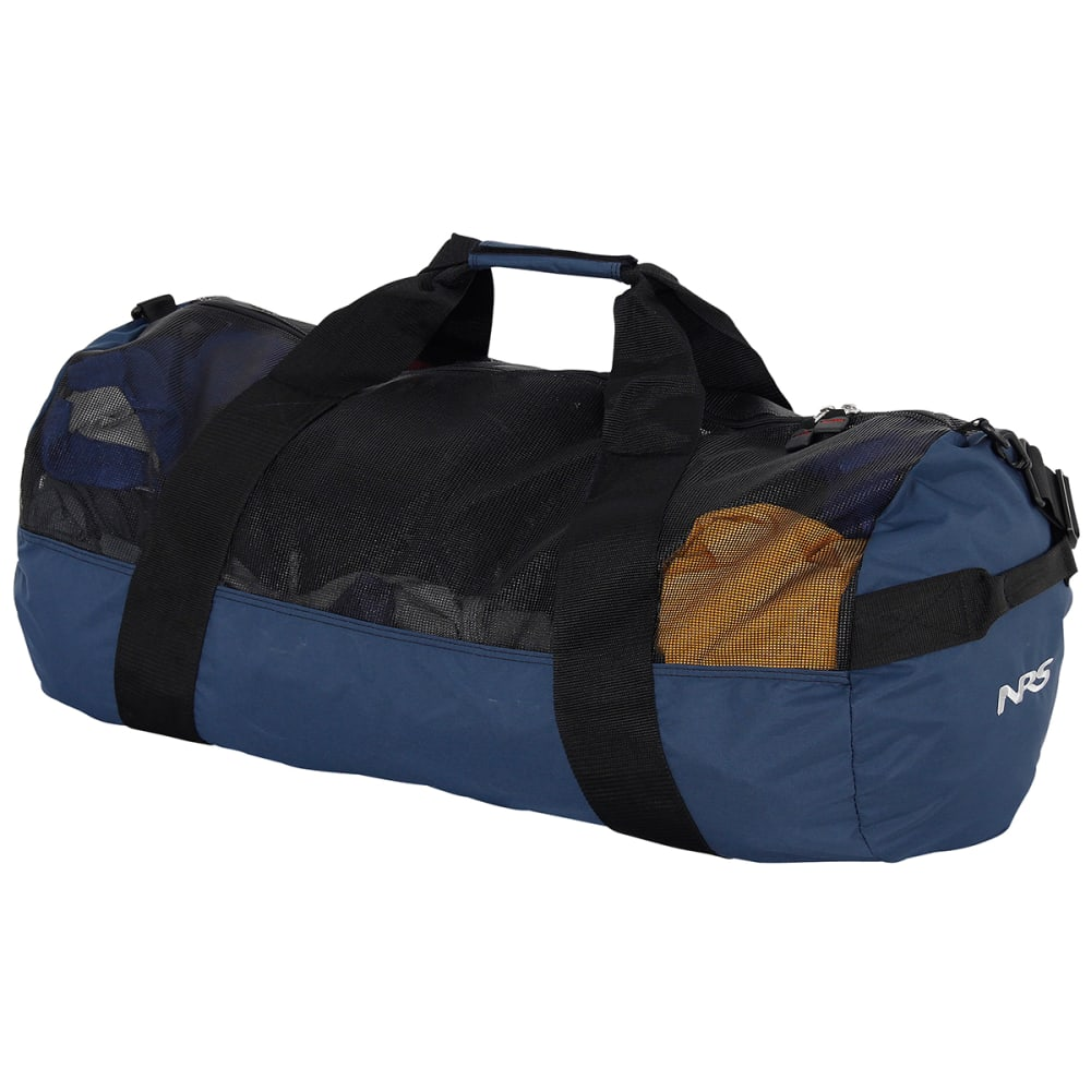 NRS Quick-Change Mesh Duffel Bag w/ Pad - BLACK/BLUE