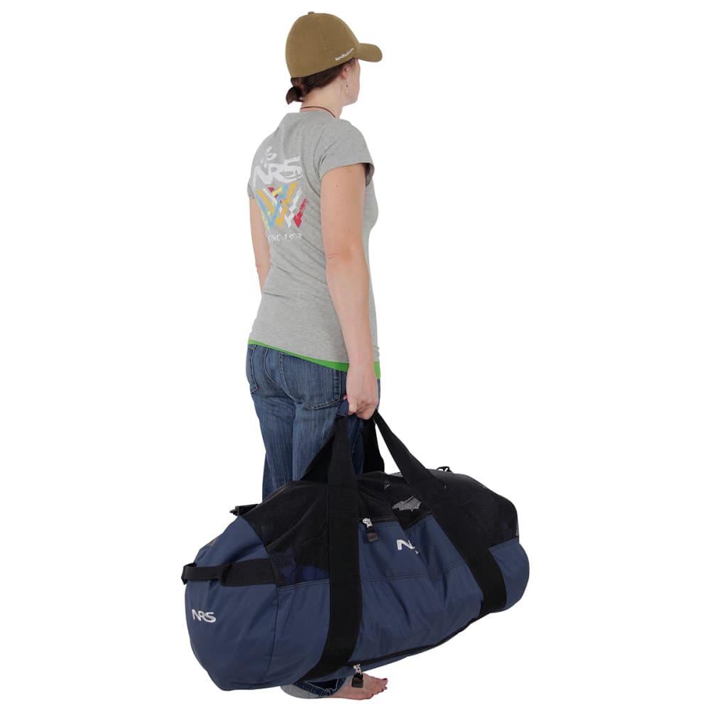 NRS Quick-Change Mesh Duffel Bag w/ Pad - BLACK/BLUE