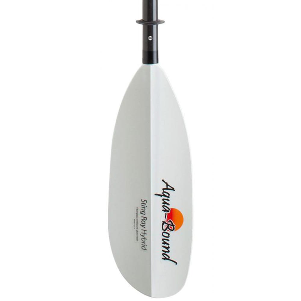 AQUA-BOUND Sting Ray Hybrid Kayak Paddle, 4-Piece, Snap-Button - BLACK/WHITE