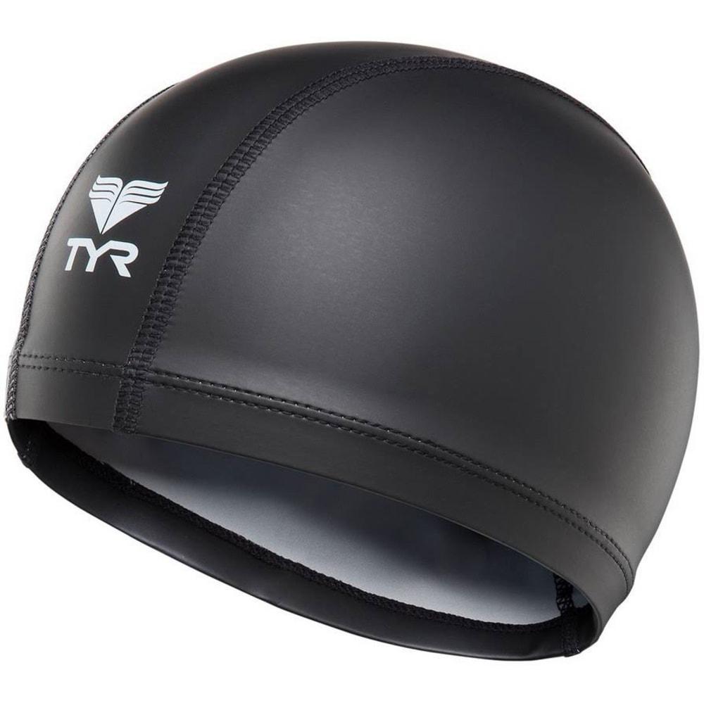 TYR Hi-Vis Warmwear Swim Cap - BLACK