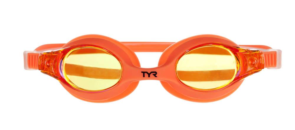 TYR Kids' Swimples Mirrored Swim Goggles - MANIAC MANGO
