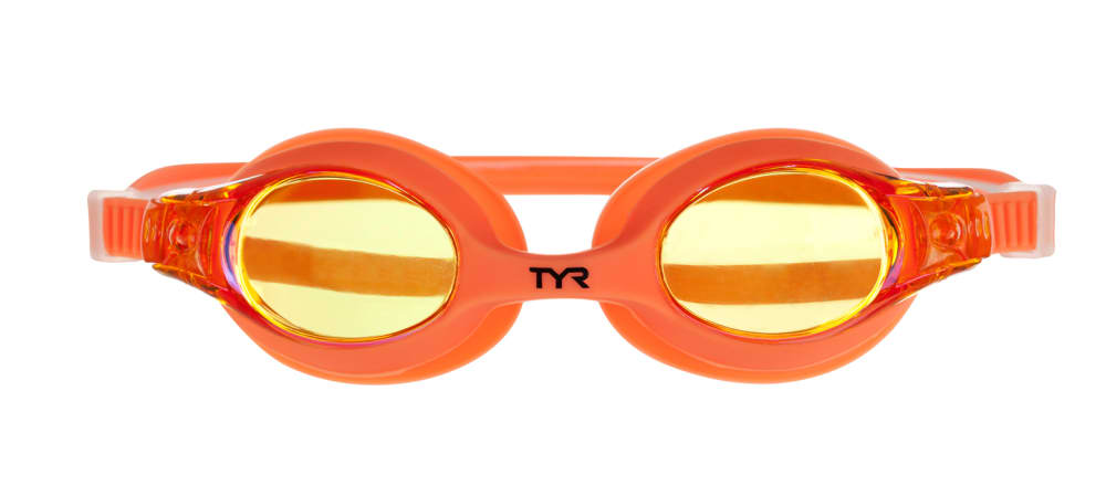 TYR Kids' Swimples Mirrored Swim Goggles - MANIAC MANGO