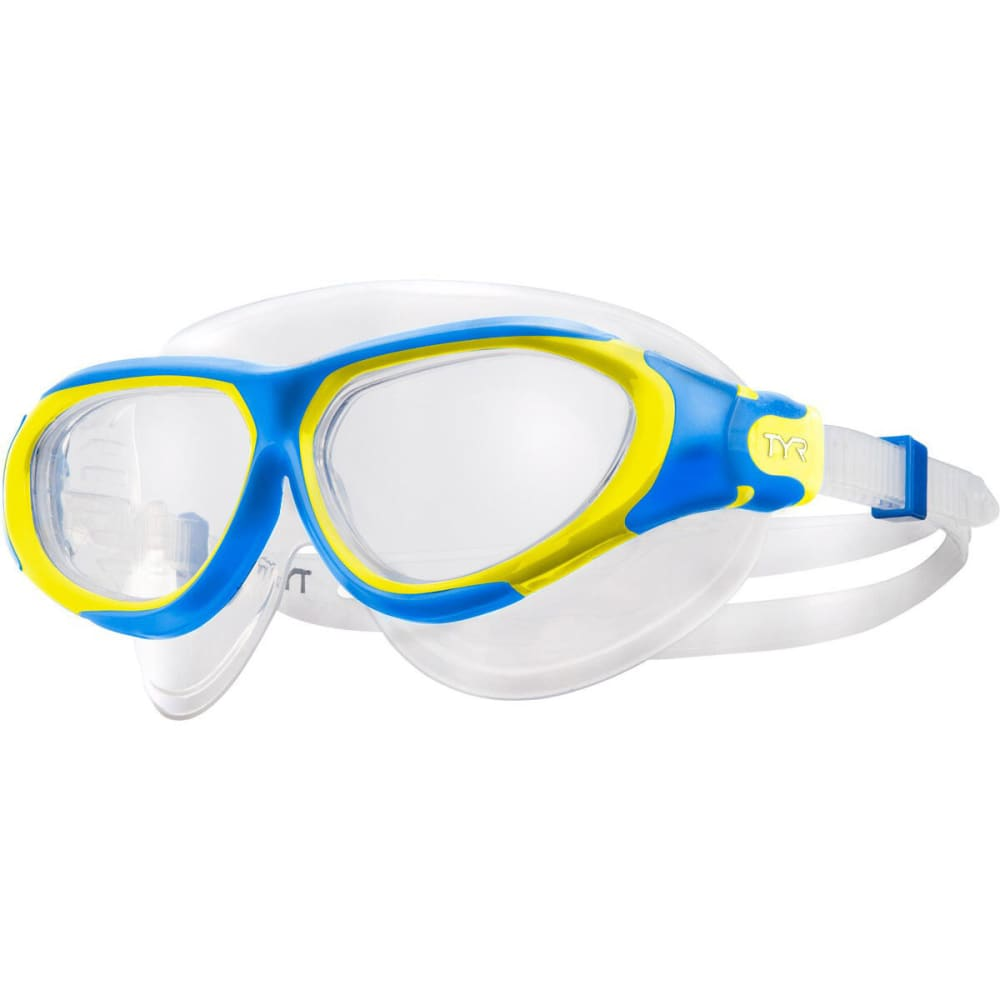 TYR Flex Frame Swim Mask - BLUE/YEL