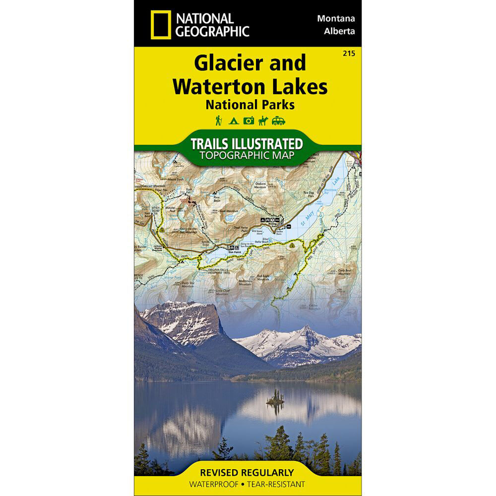 NAT GEO Glacier/Waterton Nat'l Park Map - NONE