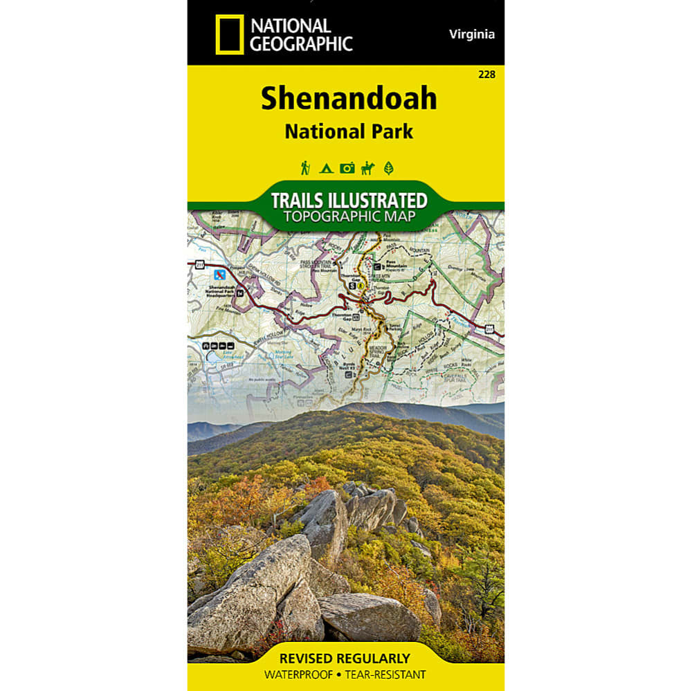 National Geographic Shenandoah National Park Map