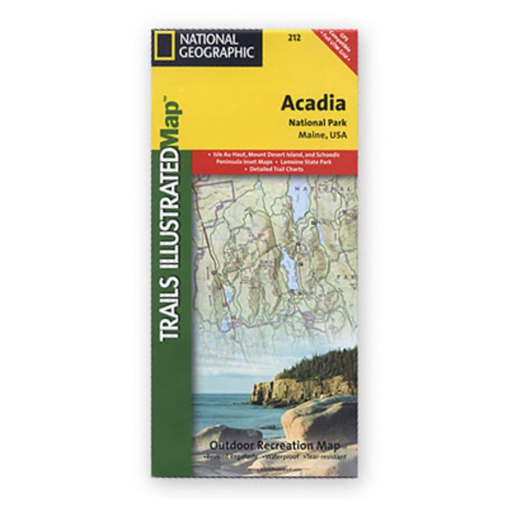 NAT GEO Acadia Nat'l Park Map, Maine - NONE