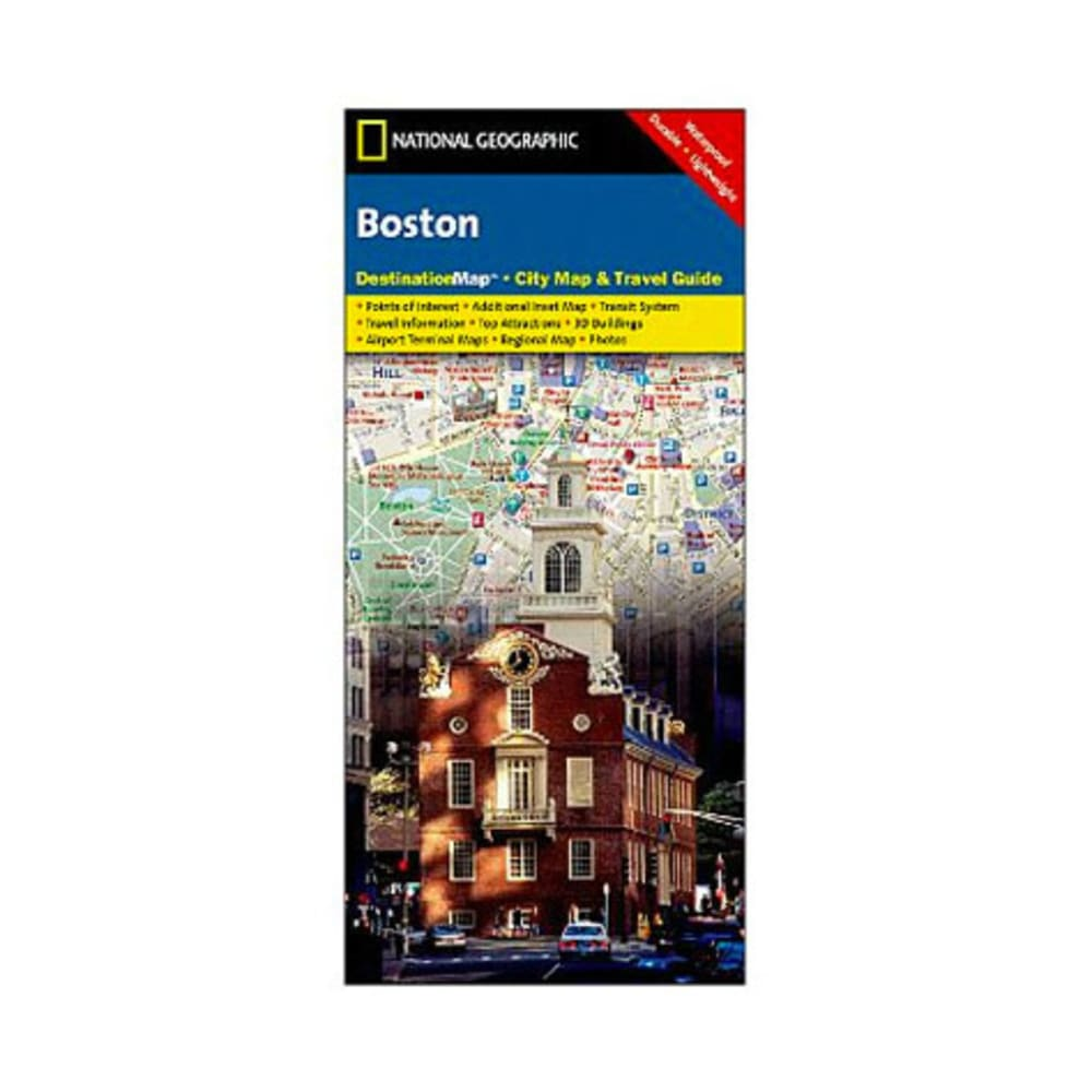 NAT GEO Boston Destination City Map - NONE