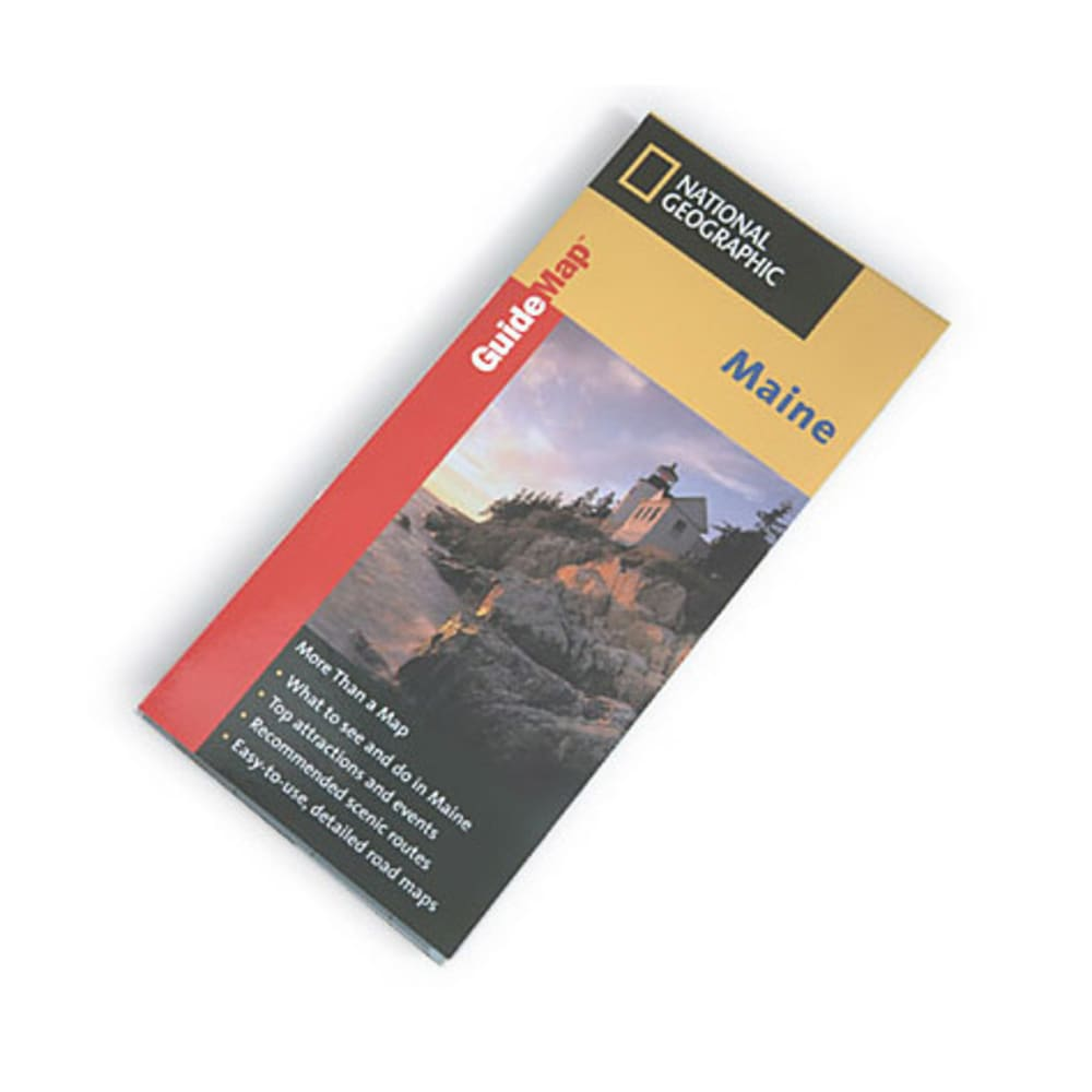 NAT GEO Maine Guide Map - NONE