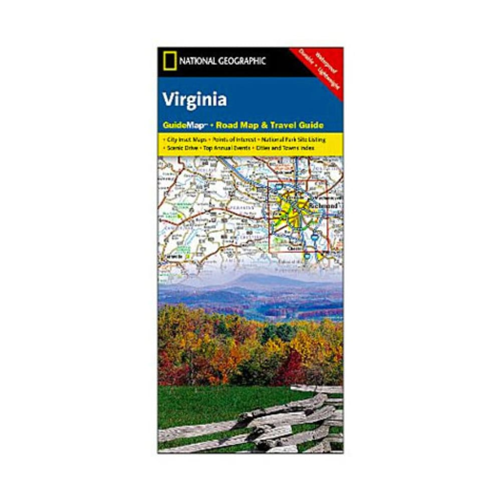 NAT GEO Virginia Guide Map - NONE