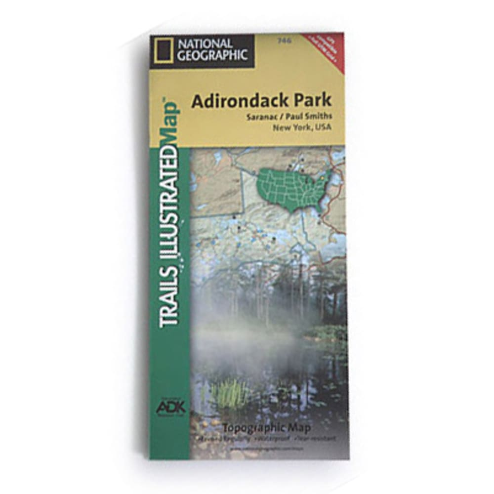 NAT GEO Adirondack Park Map, Saranac/Paul Smiths - NONE