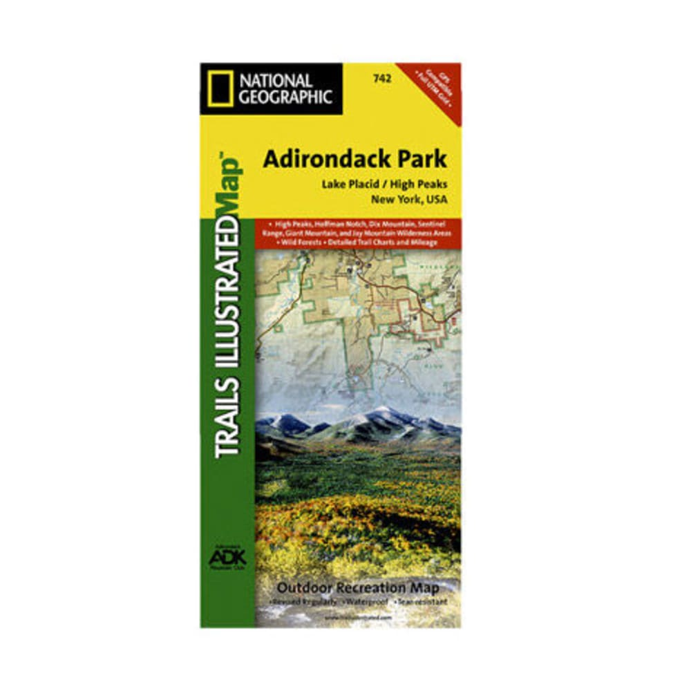 NAT GEO Adirondack Park Map, Lake Placid/High Peaks - NONE