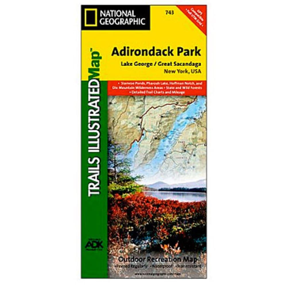 NAT GEO Adirondack Park Map, Lake George/Great Sacandaga - NONE