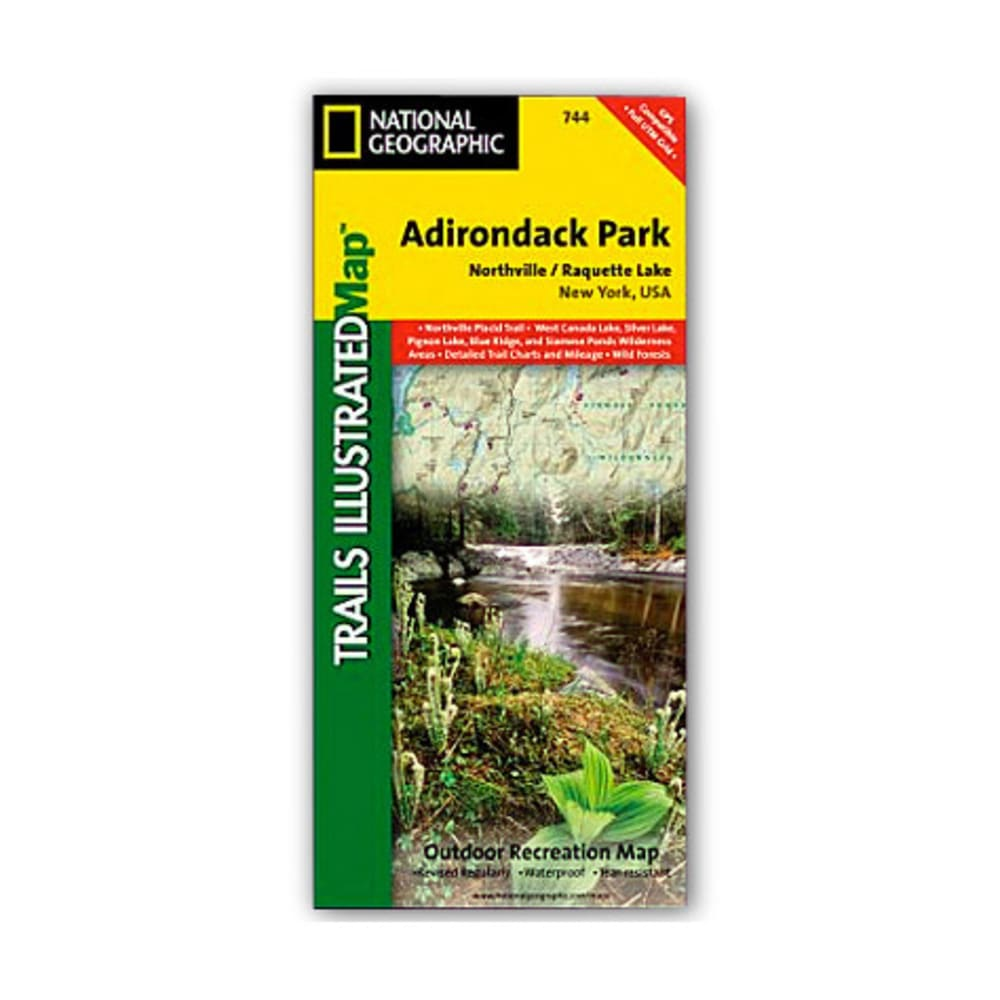 NAT GEO Adirondack Park Map, Northville/Raquette Lake NA