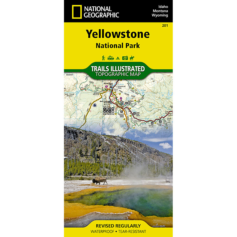 NATIONAL GEOGRAPHIC Trails Illustrated Yellowstone National Park - NONE