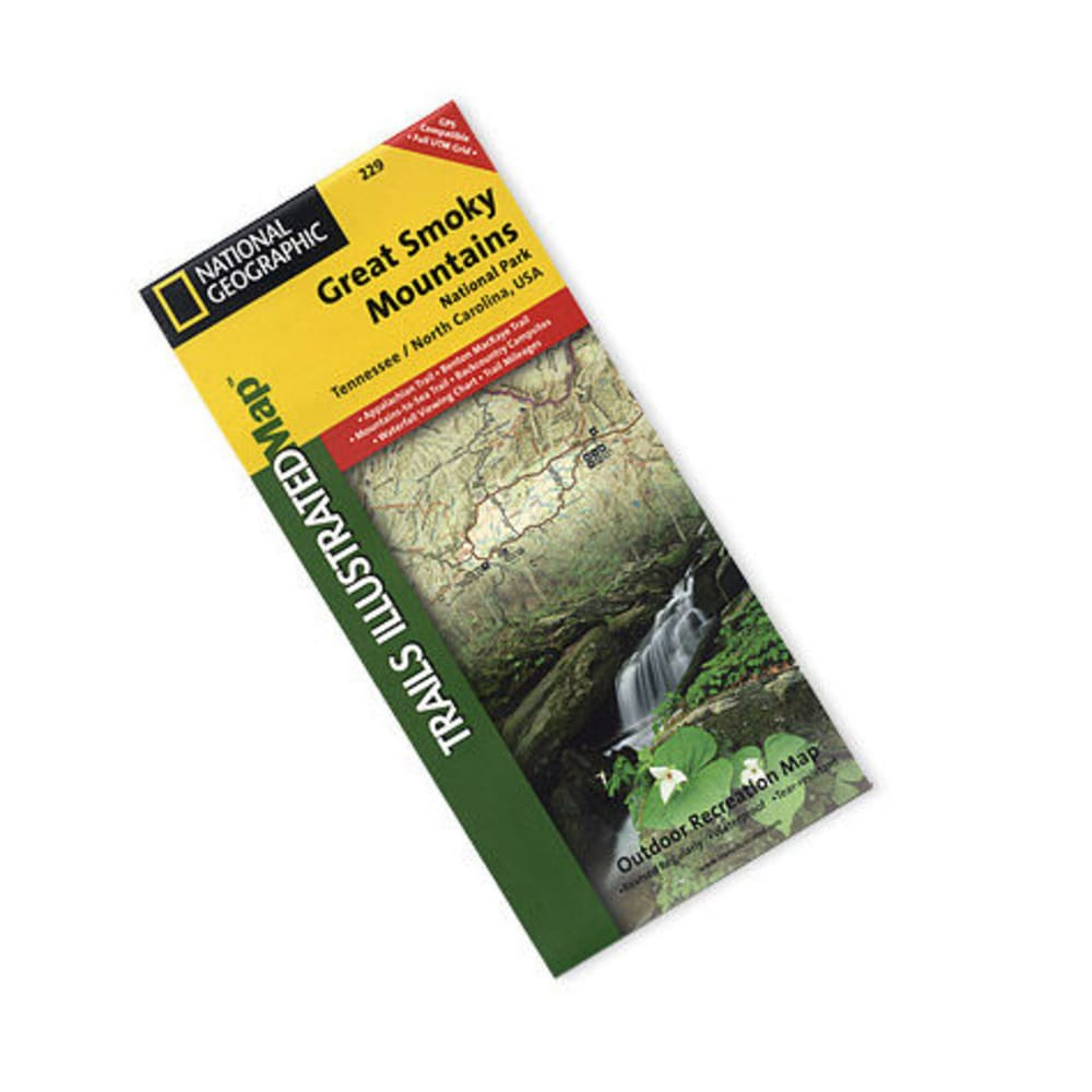 NAT GEO Great Smoky Mountains Nat'l Park Map, '07 - NONE