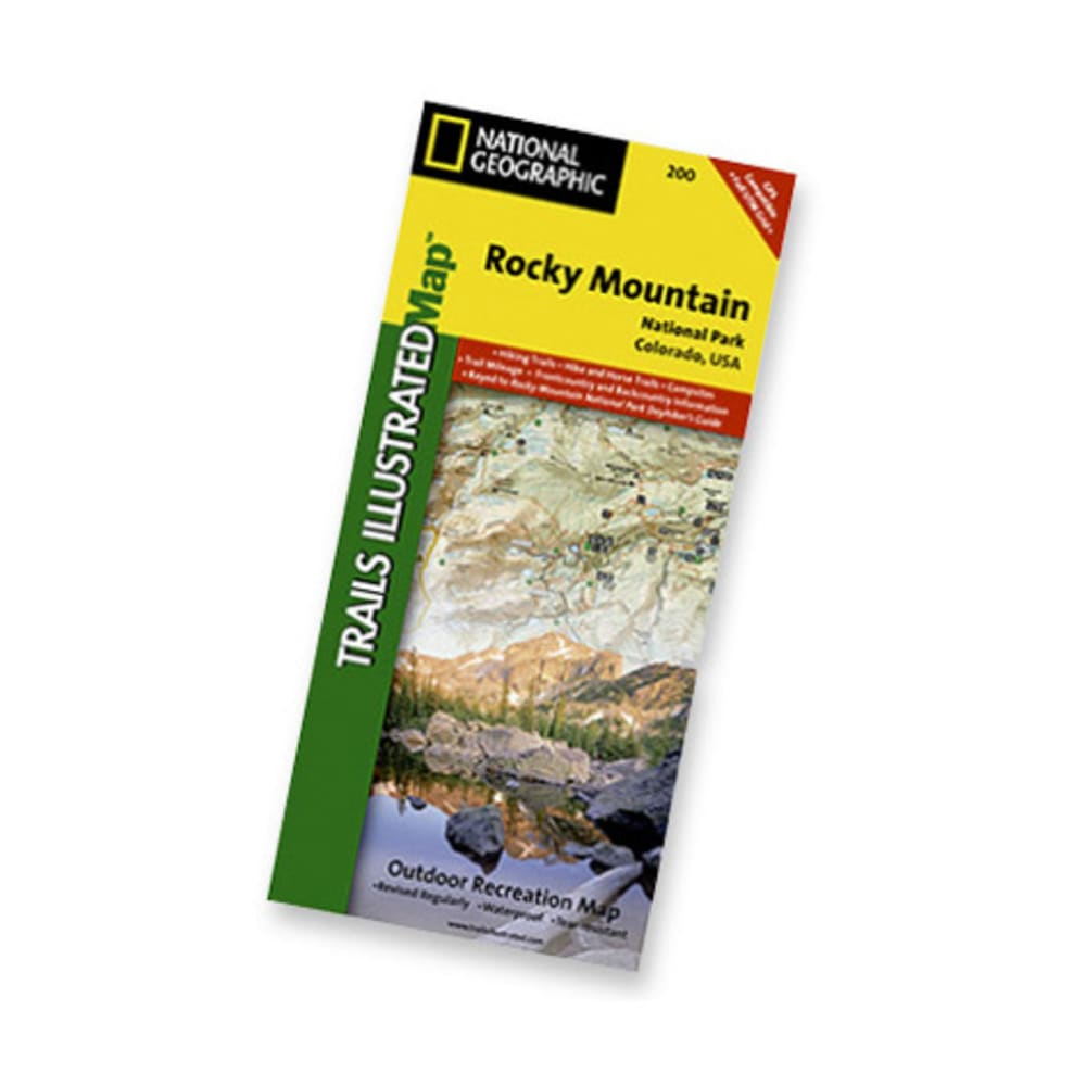 NAT GEO Rocky Mountain Nat'l Park Map - NONE