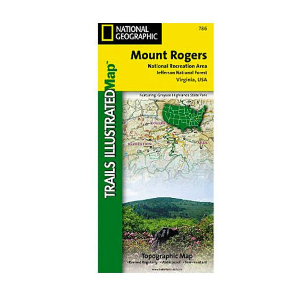 NAT GEO Mount Rogers National Recreation Area Trail Map - NONE