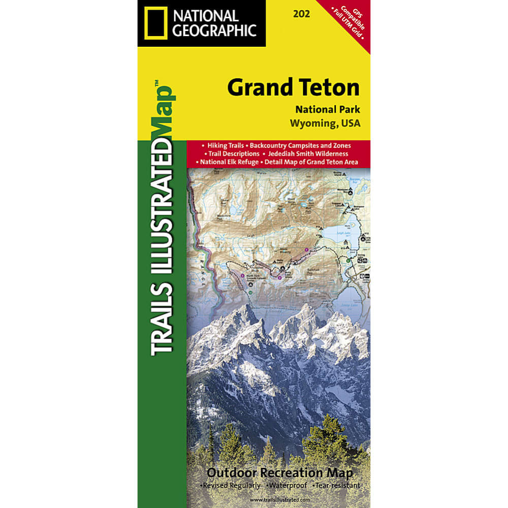 NATIONAL GEOGRAPHIC Trails Illustrated Grand Teton National Park Map - NONE