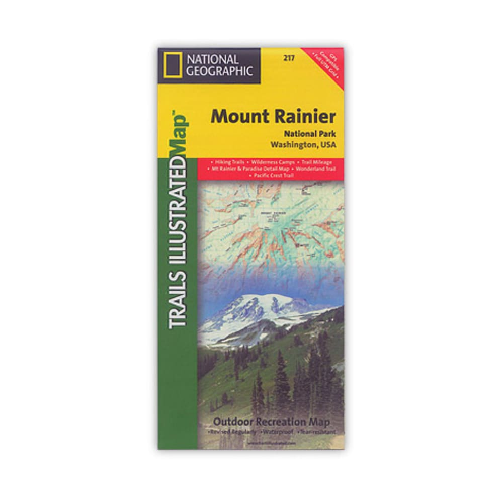 NAT GEO Mount Rainier National Park Map - NONE