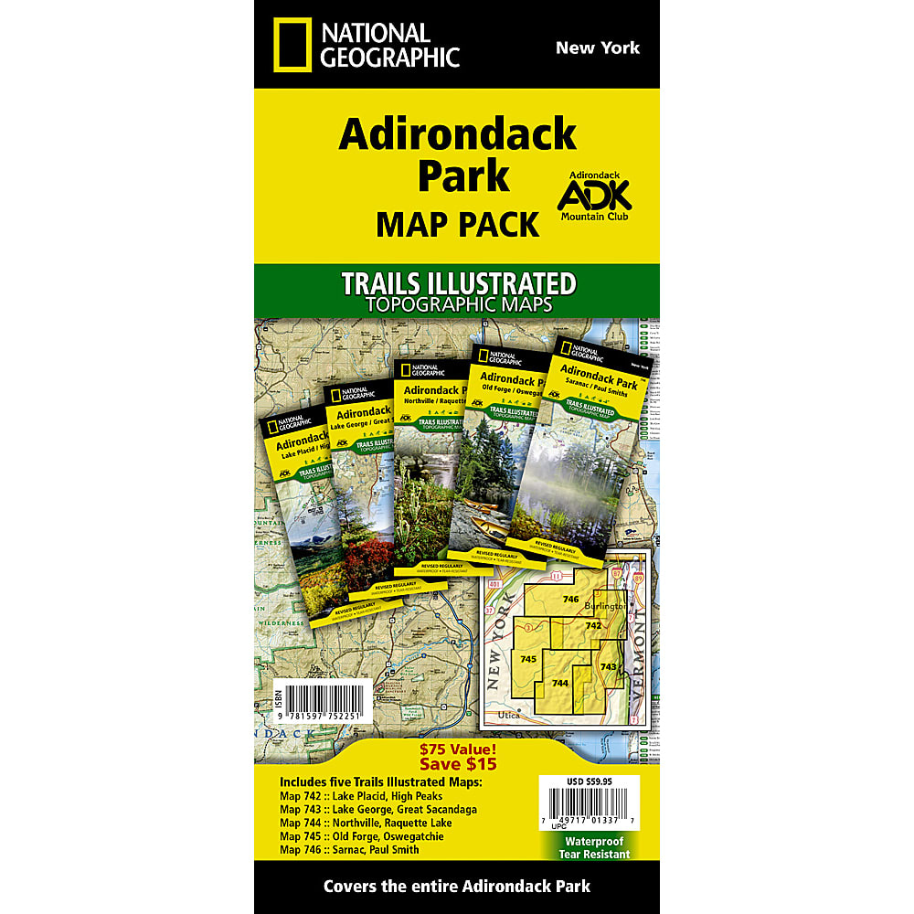 NAT GEO Adirondack Park Map Pack NA